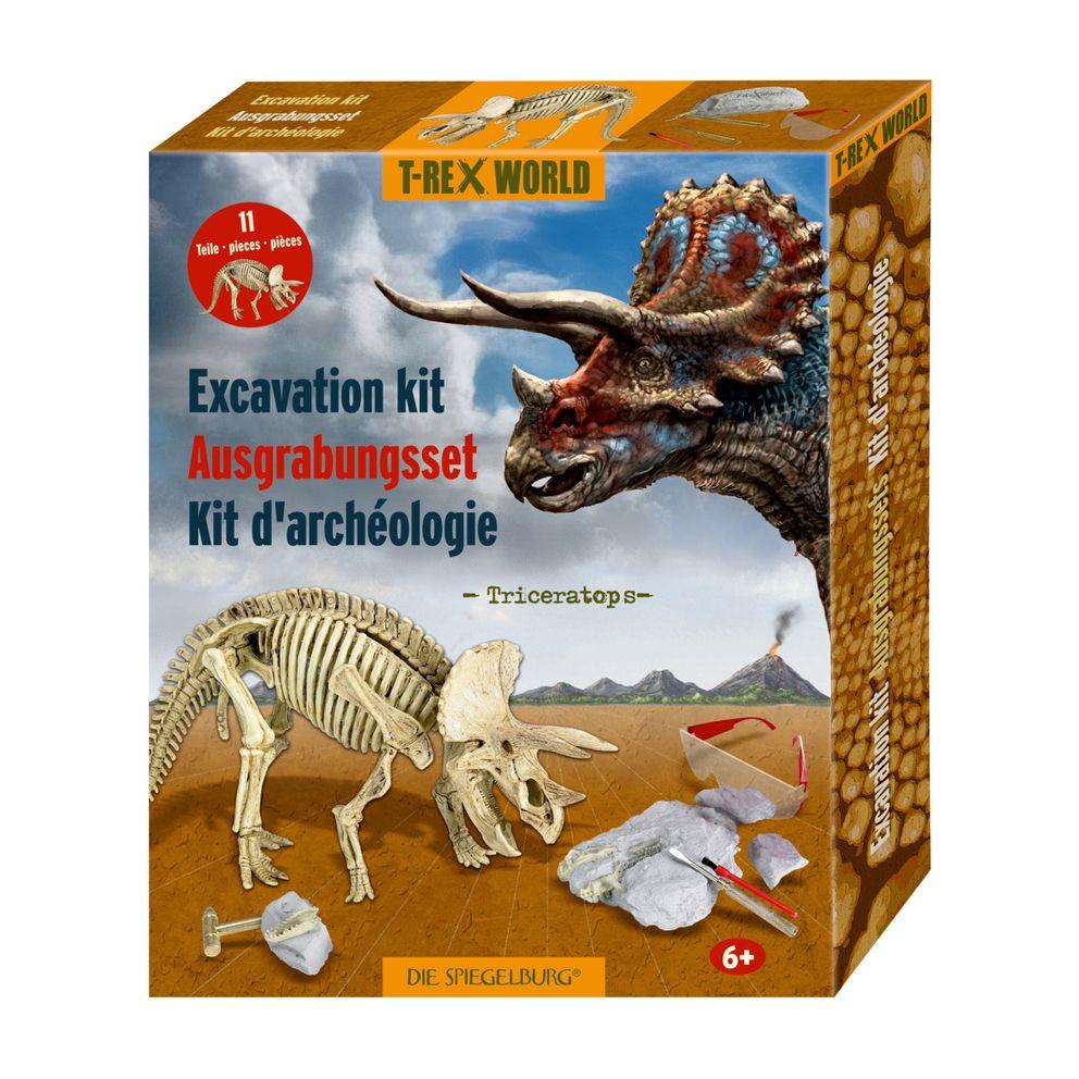 udgravningssæt med triceratops