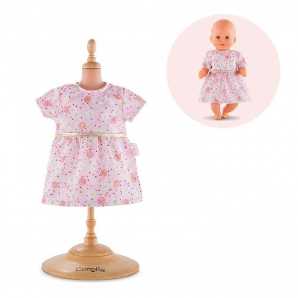 Corolle Dukketøj mon premier lyserød blomster kjole 30 cm