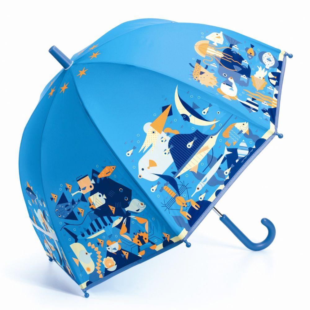 paraply til børn med havdyr