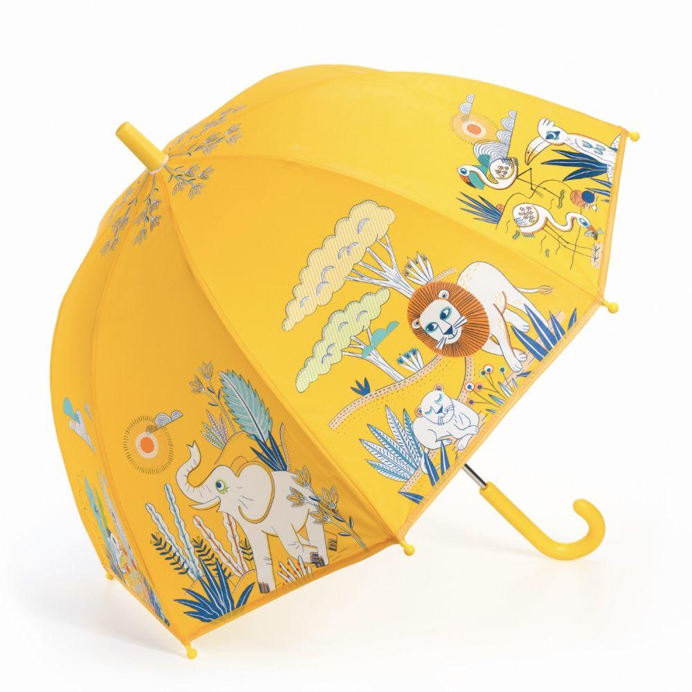 paraply til børn med dyr på svannen