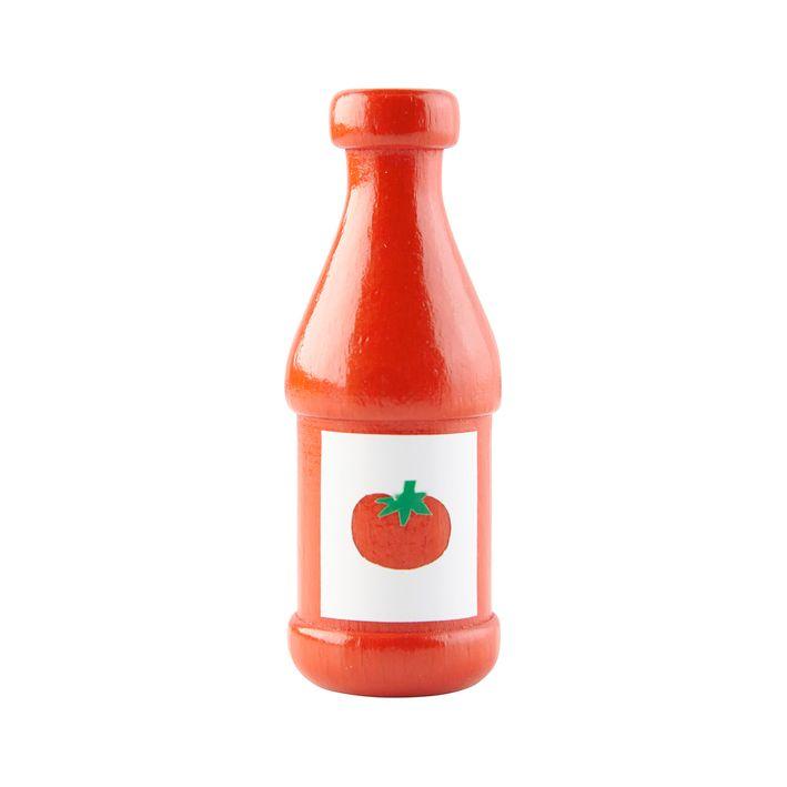 legemad ketchup  i træ fra HABA olisan.dk