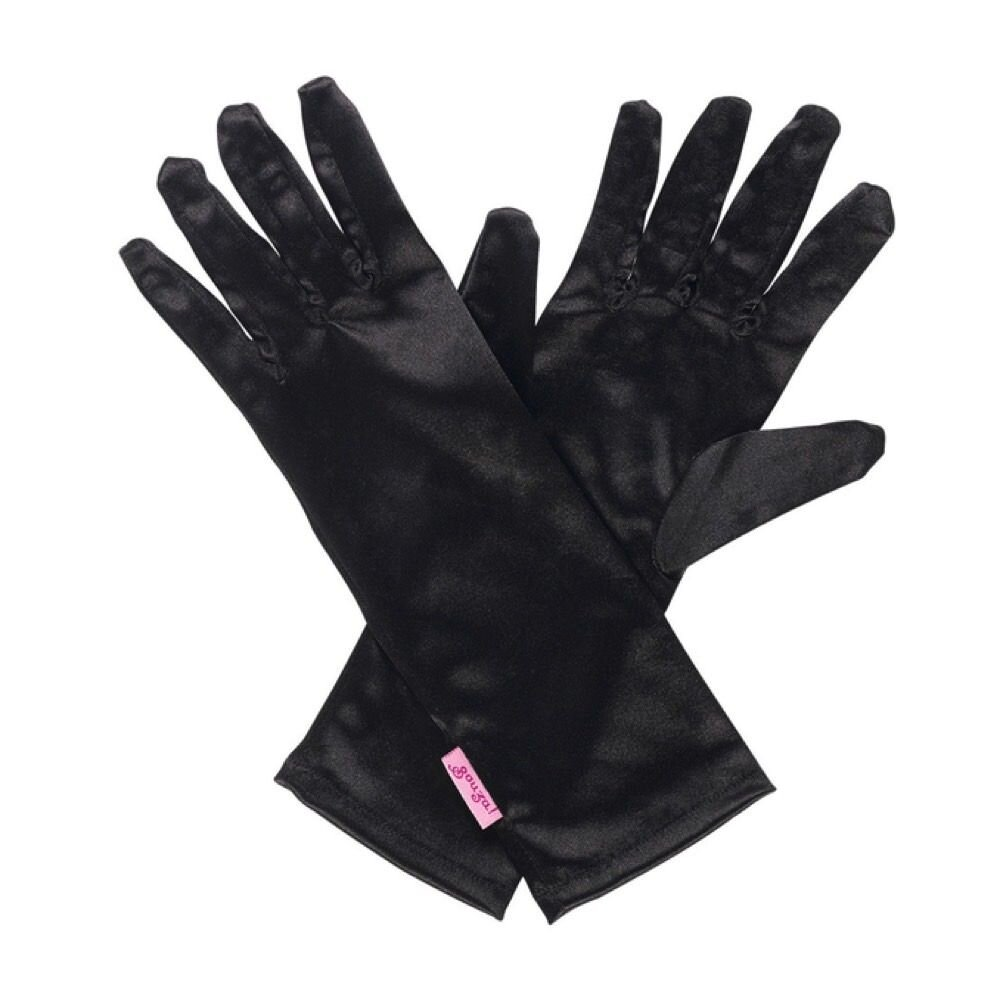 Sorte handsker til udklædning - Heks