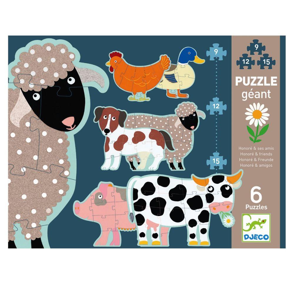 Djeco gulvpuslespil med bondegårds dyr