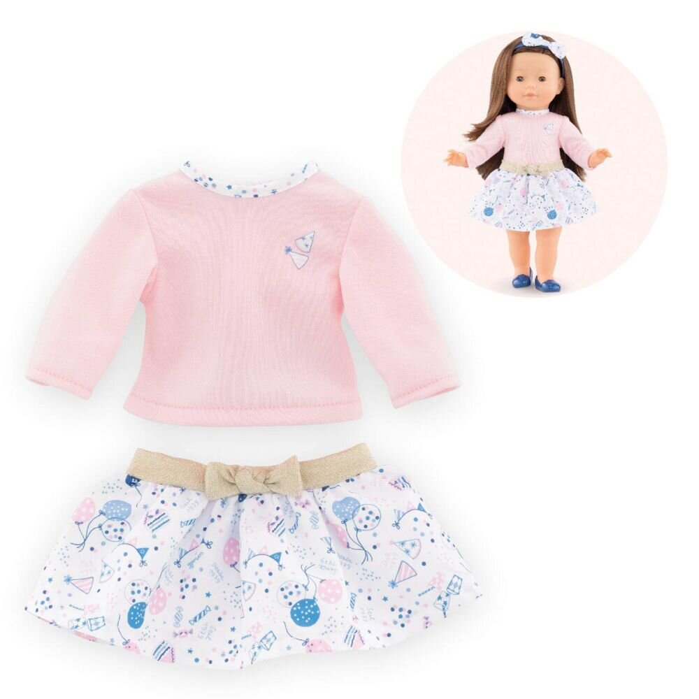 dukketøj til dukke ma nederdel og bluse