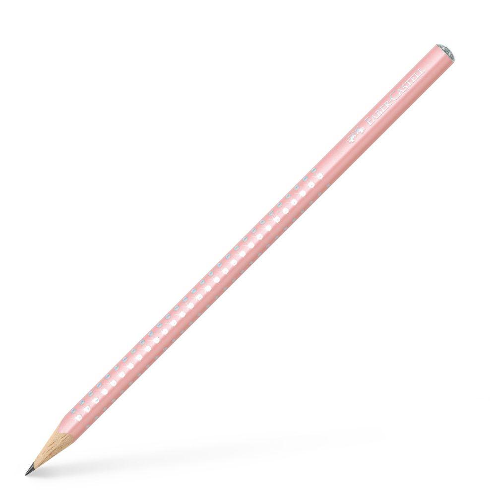 grip pastel rosa med sparkle fra Faber-Castell