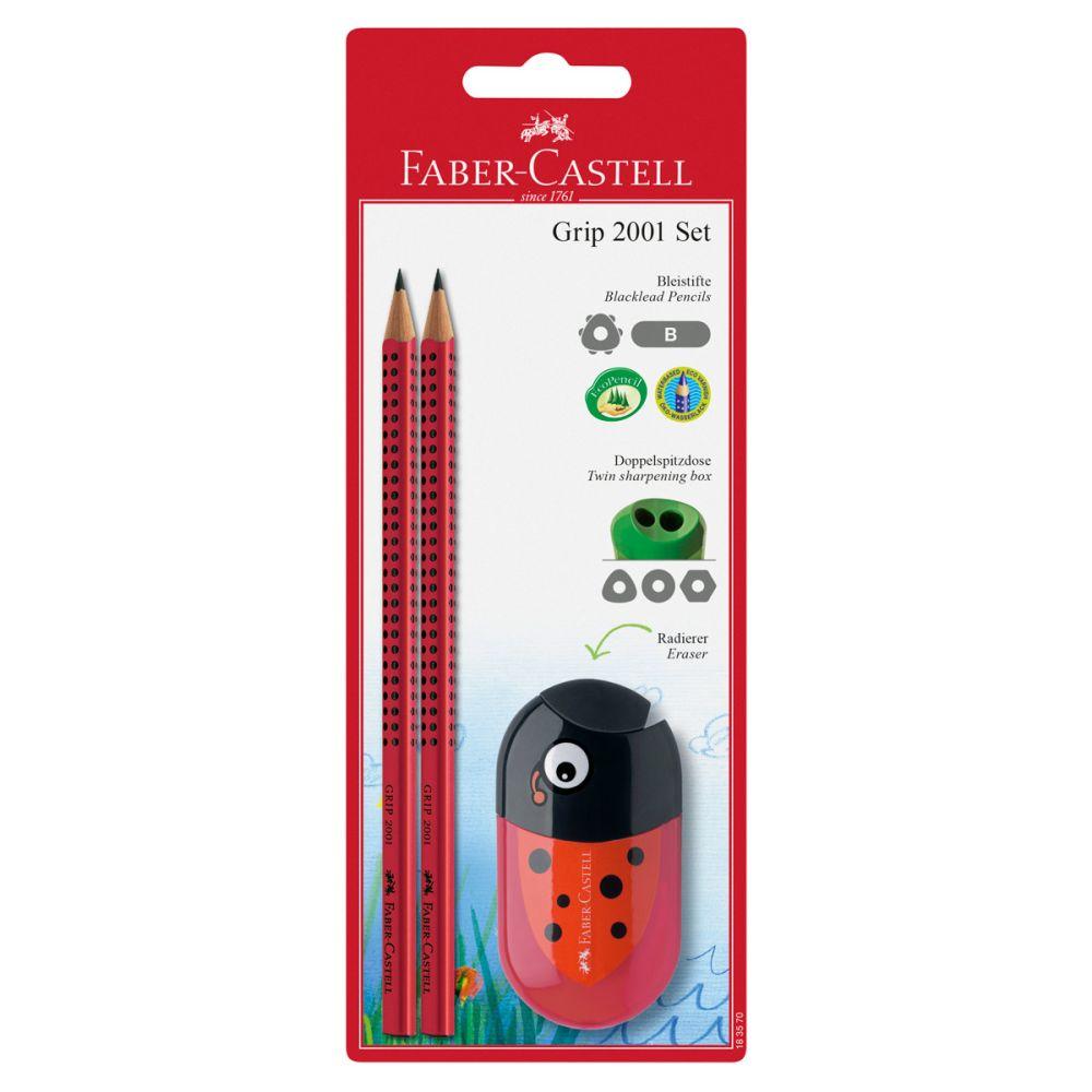 Faber-Castell 2 Grip blyanter mariehøne spidser