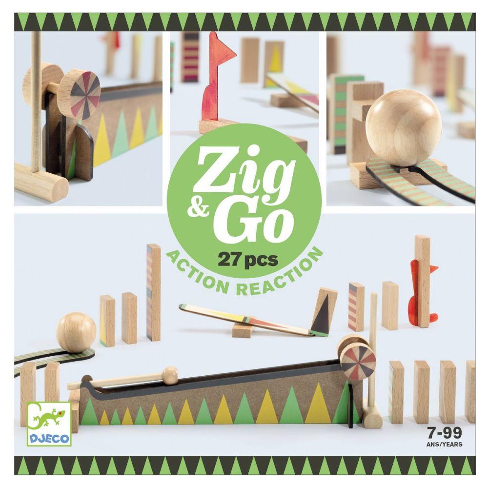 djeco zig and go kuglebane 27 dele