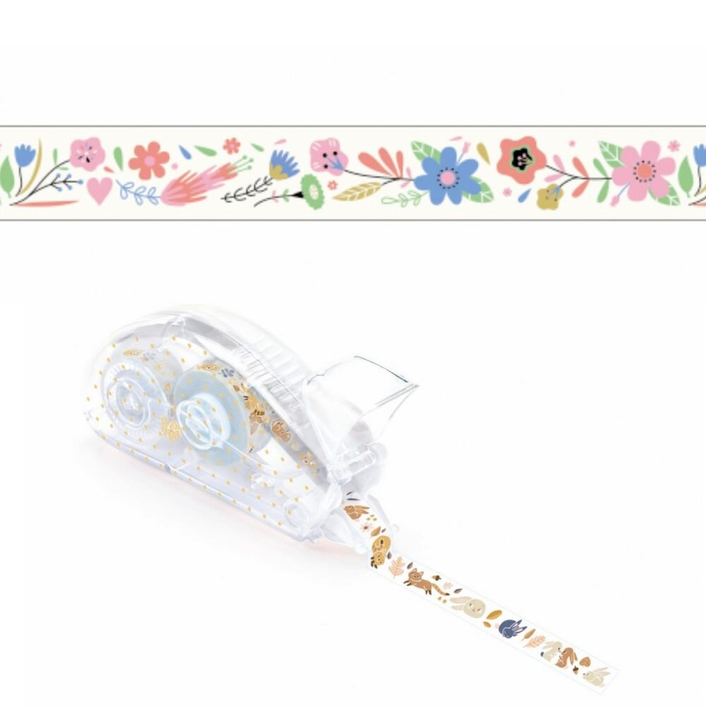 dekorations tape med blomster