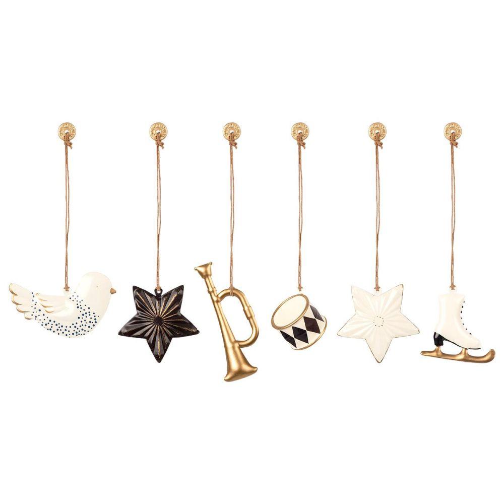 Maileg juleophæng med antracit og guld metal