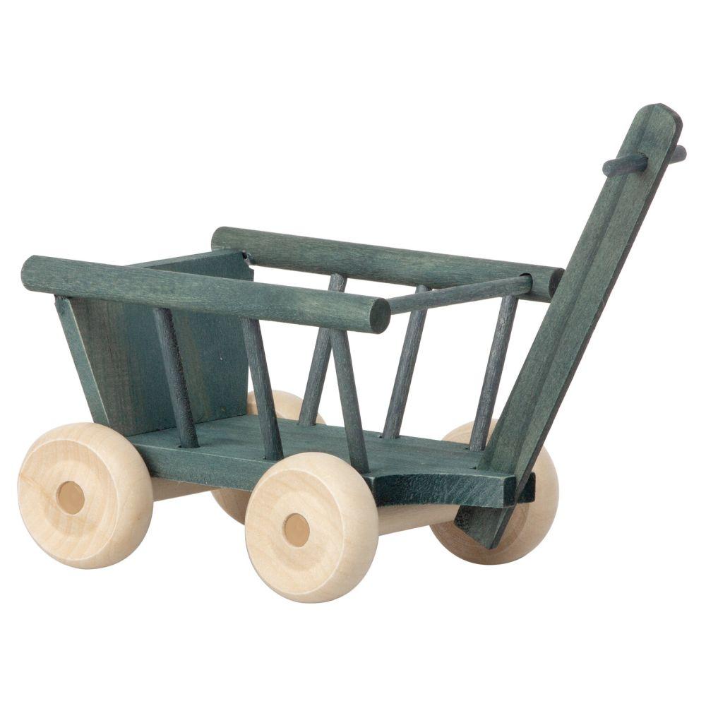 maileg mini trækvogn i træ
