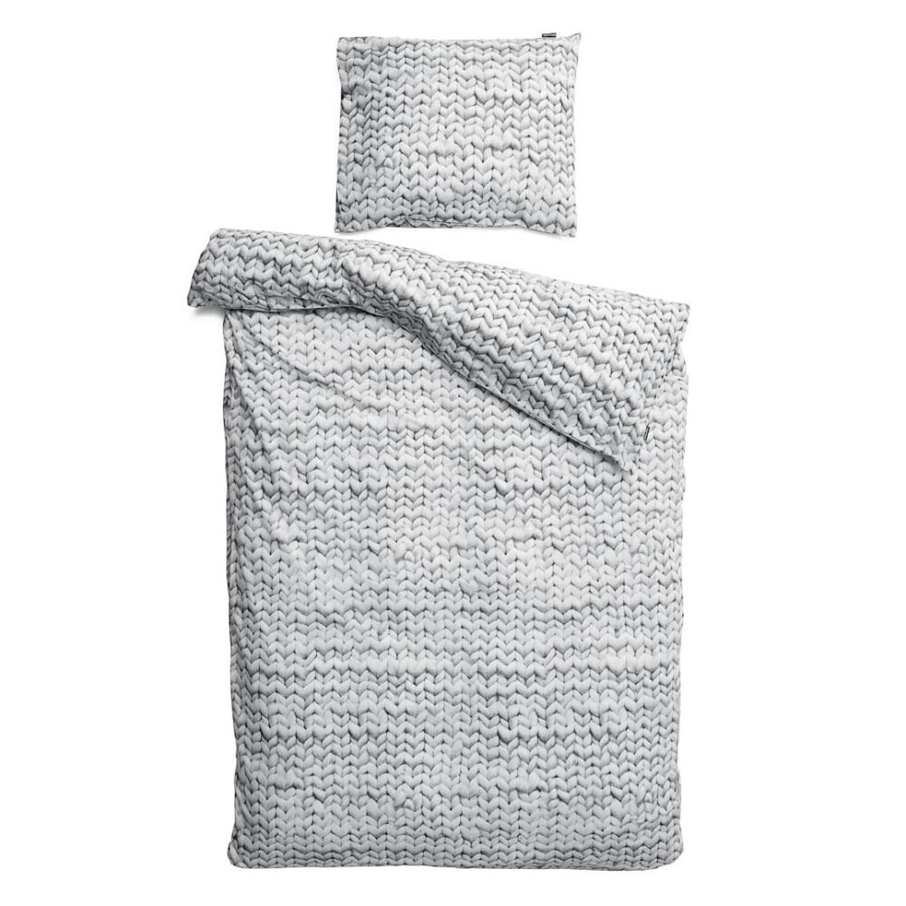 snurk twirre grå sengetøj