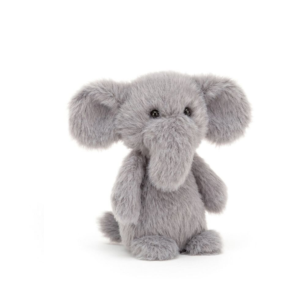 mini elefant fluffy fra jellycat