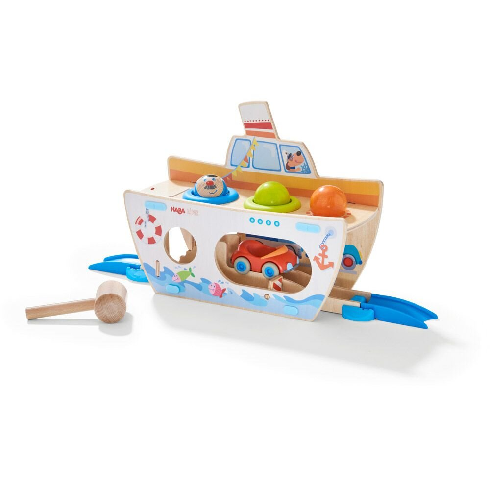 HABA Rollerby Hammerbræt Skib