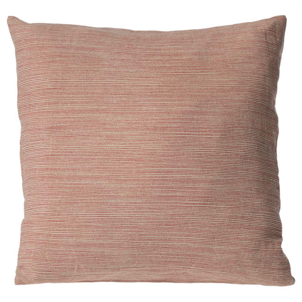 Maileg puder 40x40 stribet sand og rød