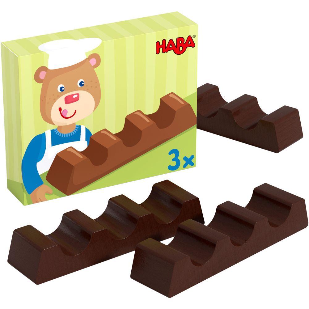 haba chokolade stænger i træ