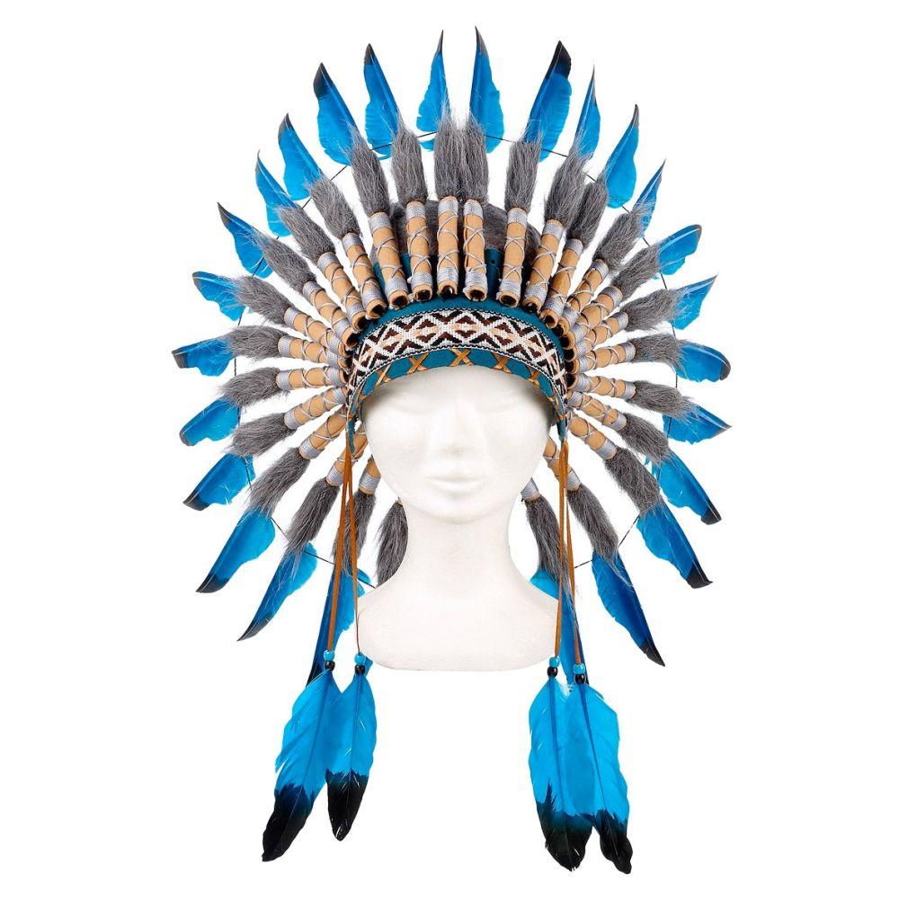 Indianer Hovedbeklædning Navanjo blå