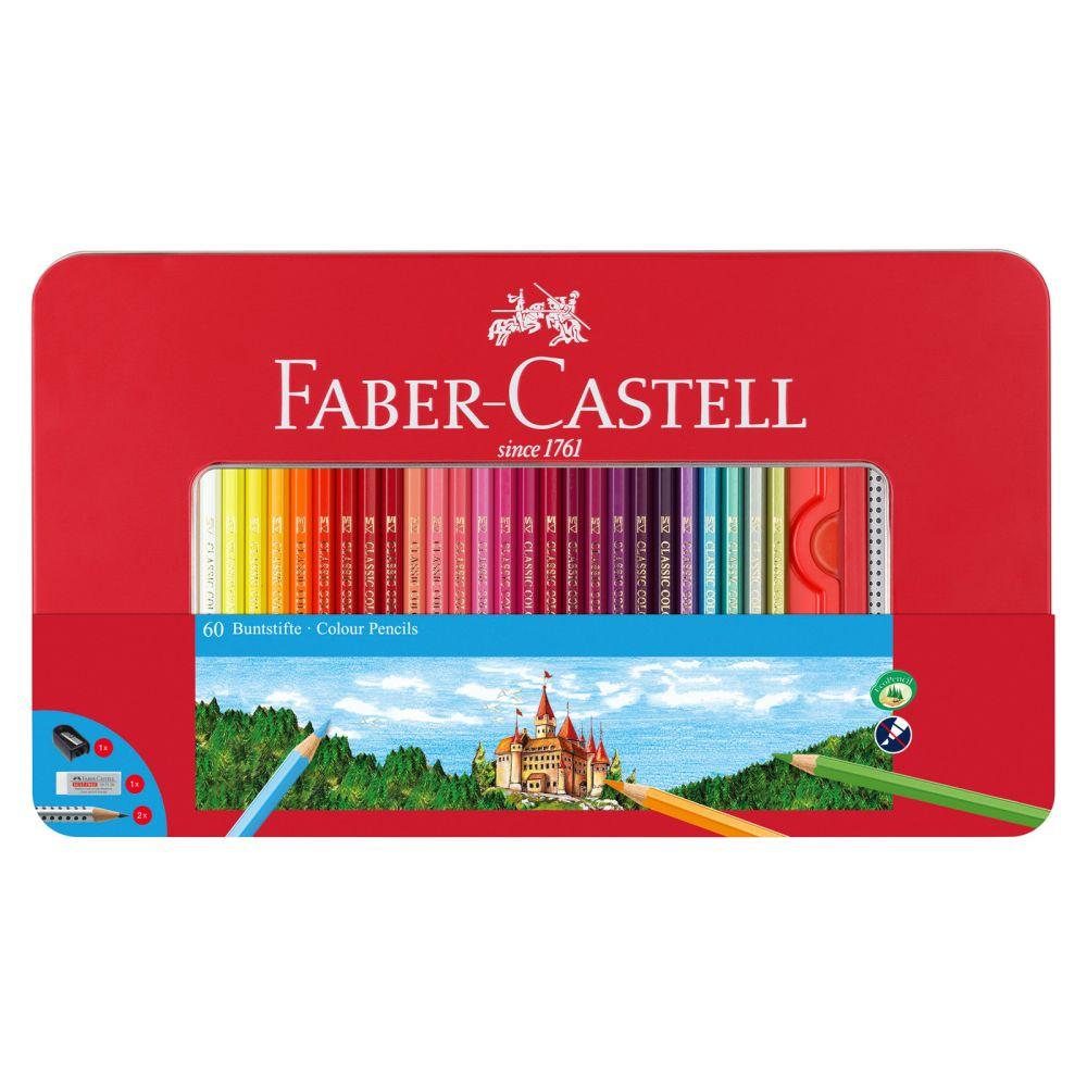 faber-castell 60 farveblyanter i æske