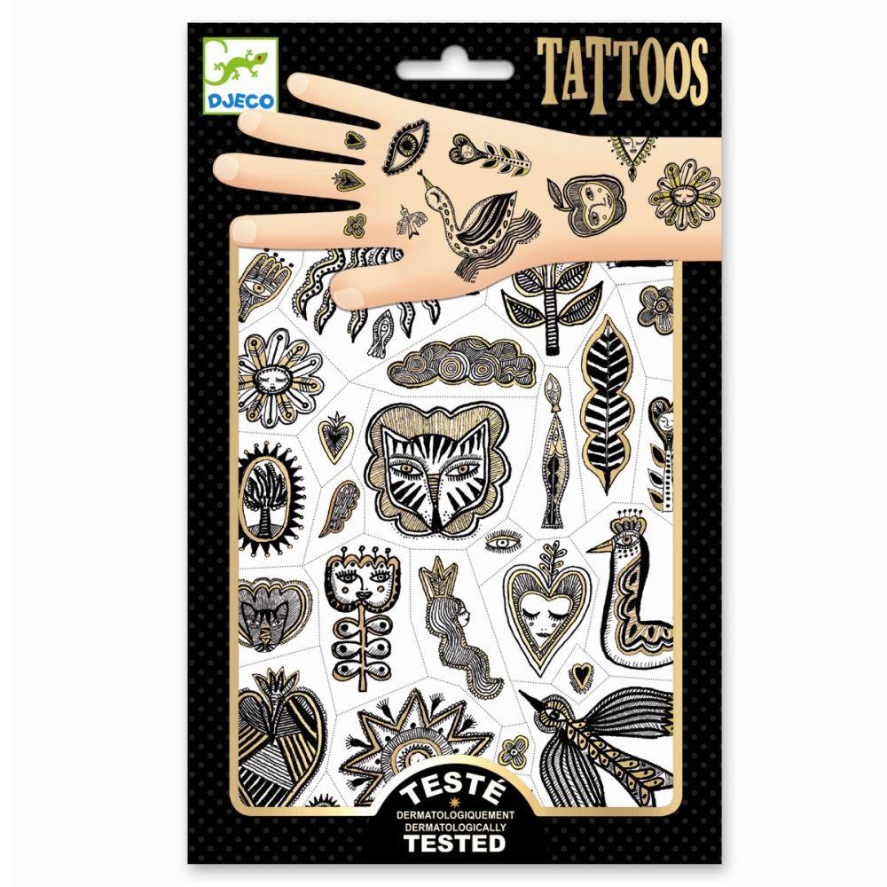 guld tattoos fra djeco