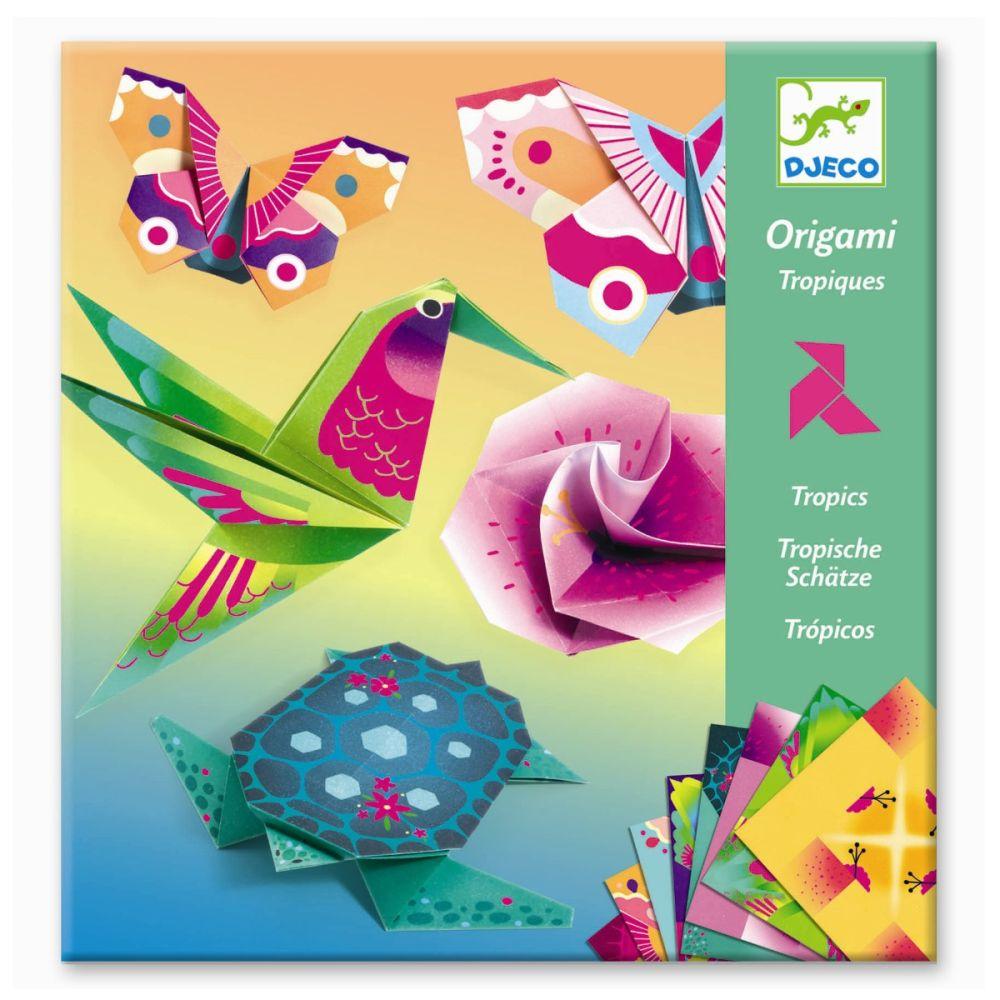 djeco origami sæt med tropiske dyr