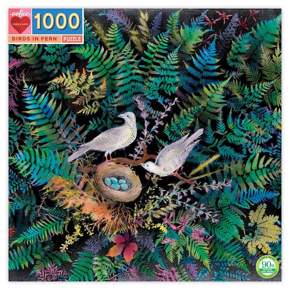Eeboo puslespil 1000 brikker due rede