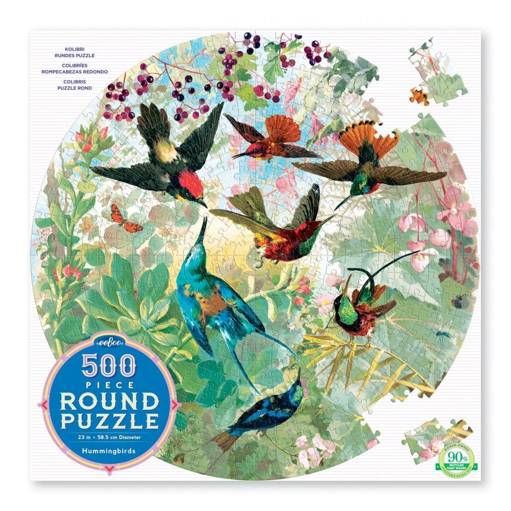 Puslespil 500 brikker med kolibrier