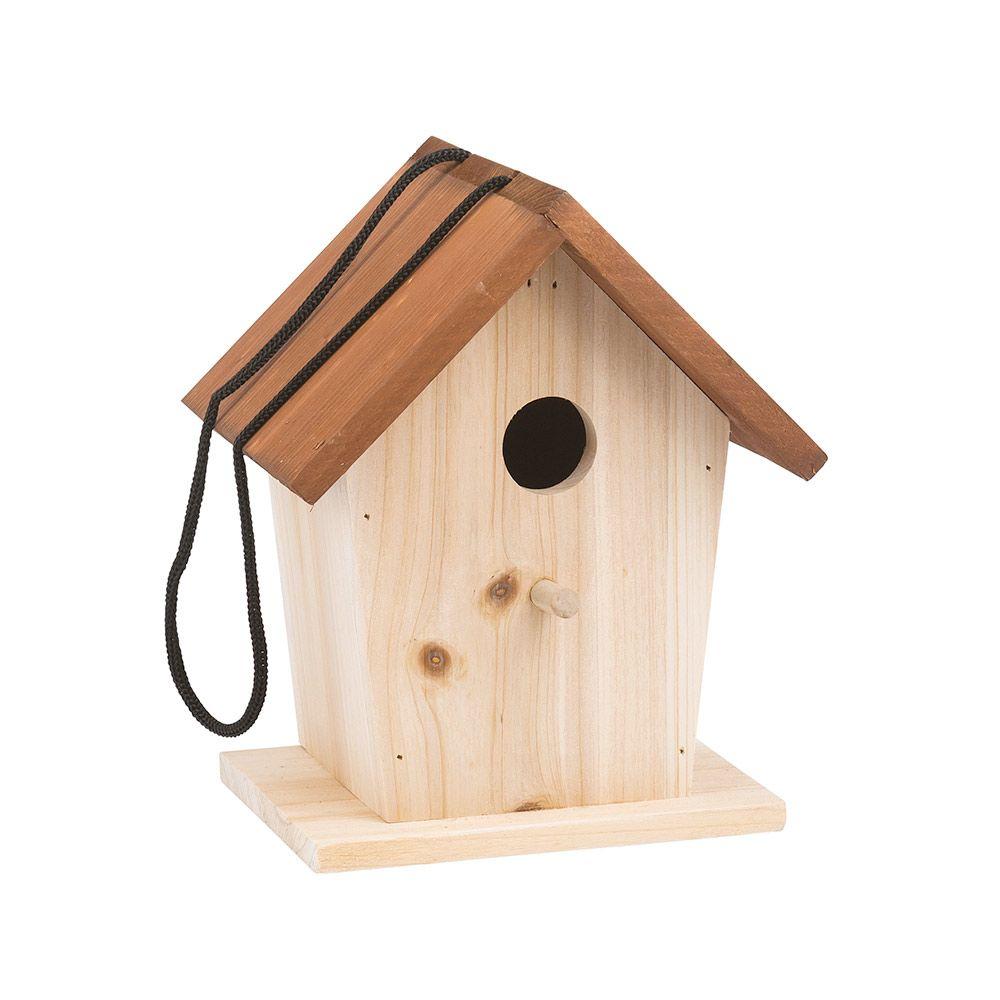 fuglehus i træ til at hænge