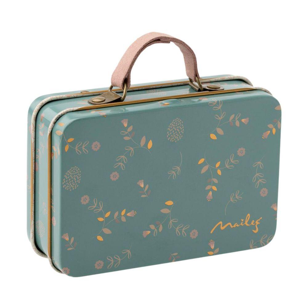Maileg kuffert i metal med Elia mønster