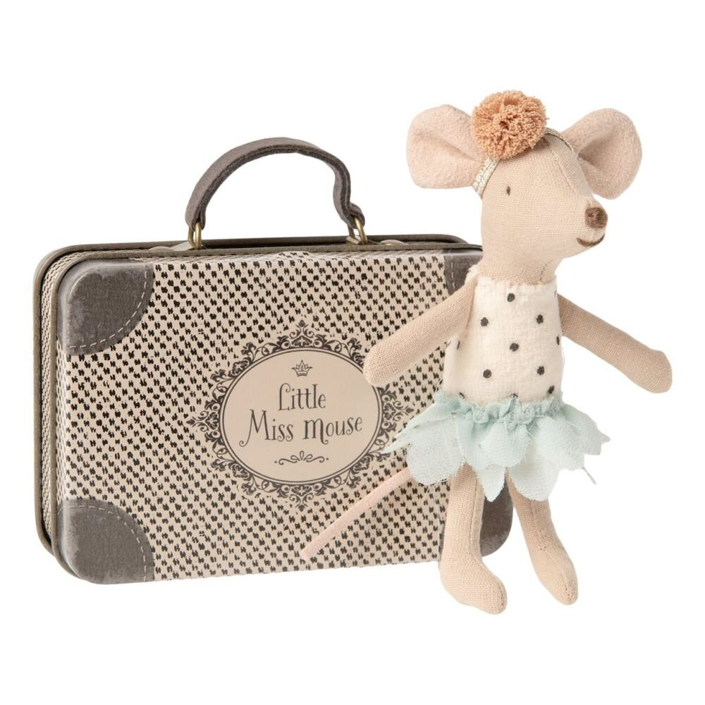 Maileg Little Miss mouse i kuffert