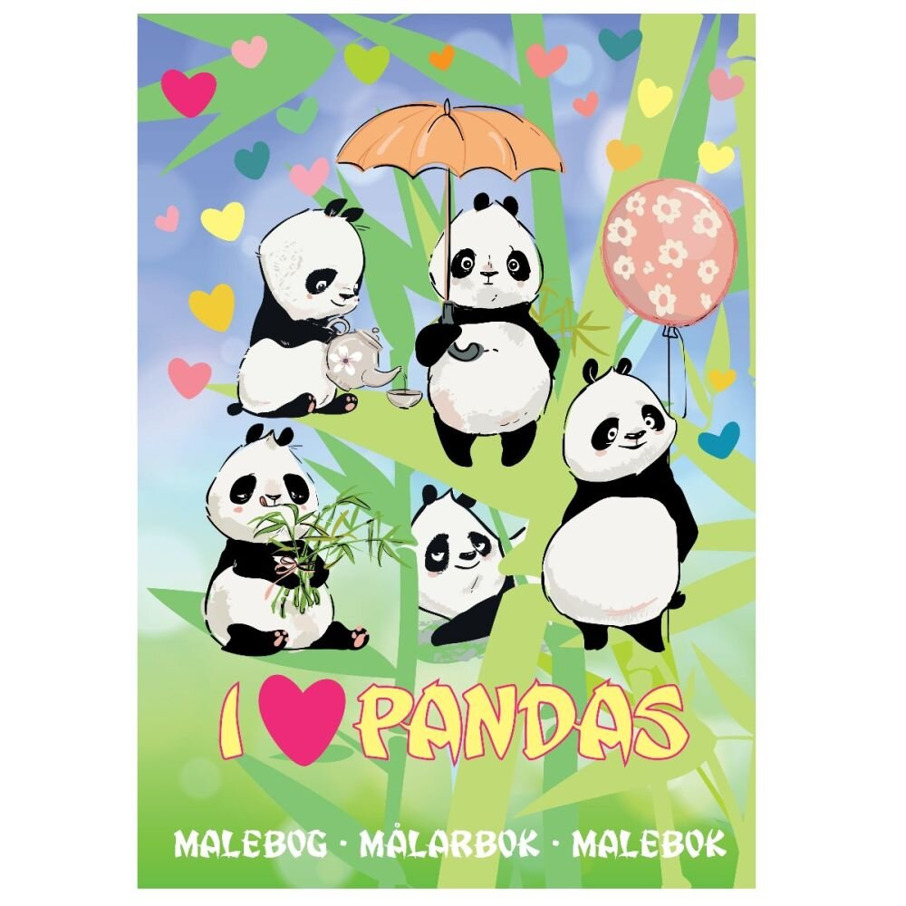 Malebog Farvelæg pandaer