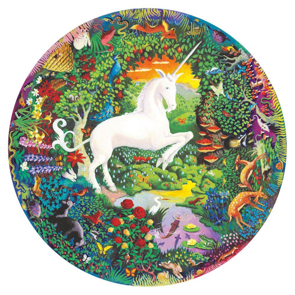 Eeboo Puslespil 500 rundt Unicorn
