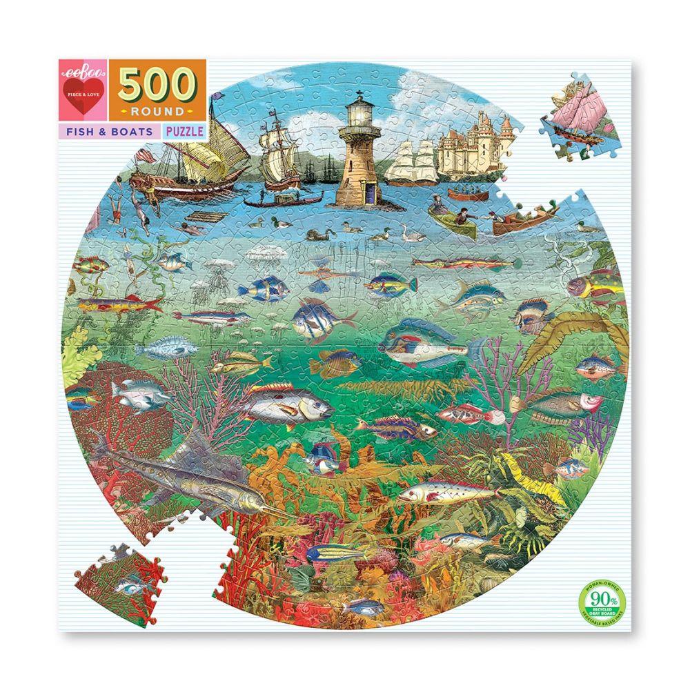 Eeboo Puslespil 500 havliv
