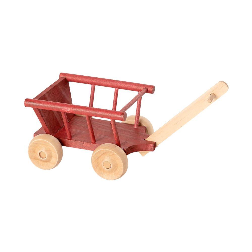 Maileg Mini trækvogn i træ Rød