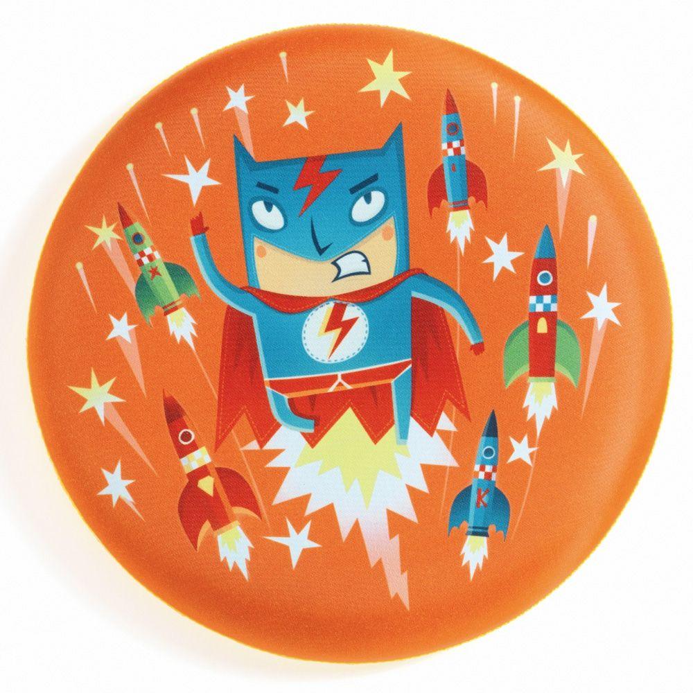 Djeco Frisbee blød kasteskive Superhelt