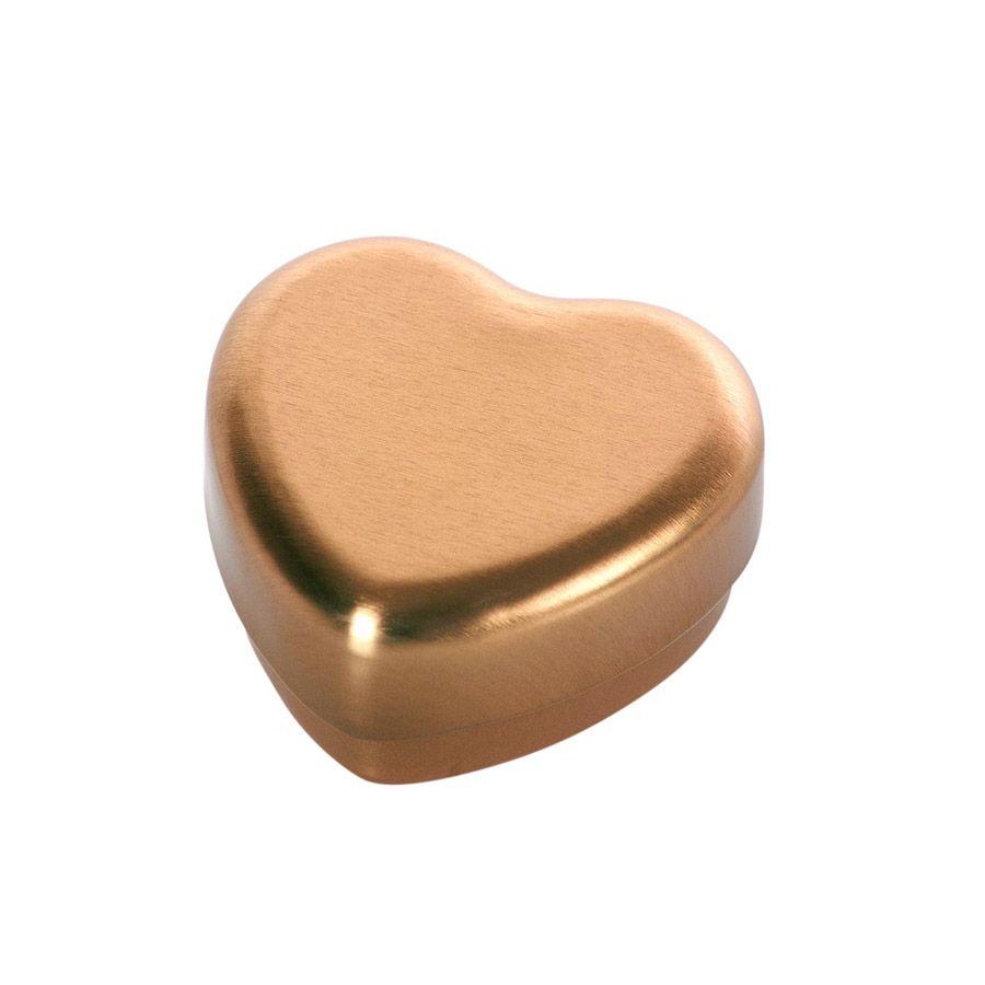 Maileg lille hjerteæske i guld