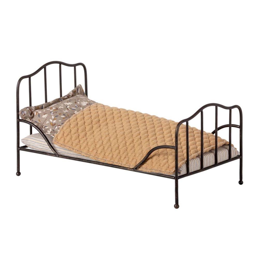 Maileg Vintage seng antracit mini