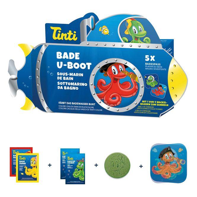 Tinti 5 dele i en ubåd gaveæske