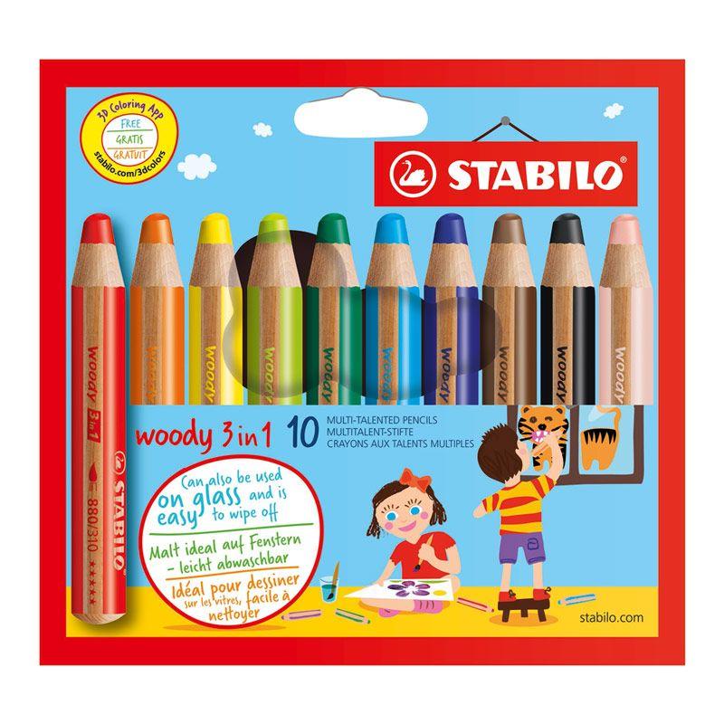 STABILO Woody farveblyanter 10 stk