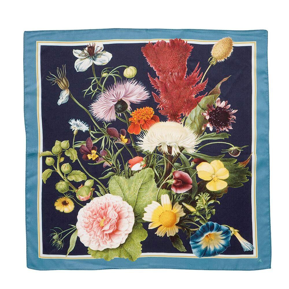 Silketørklæde JL TREASURES Blue 50x50