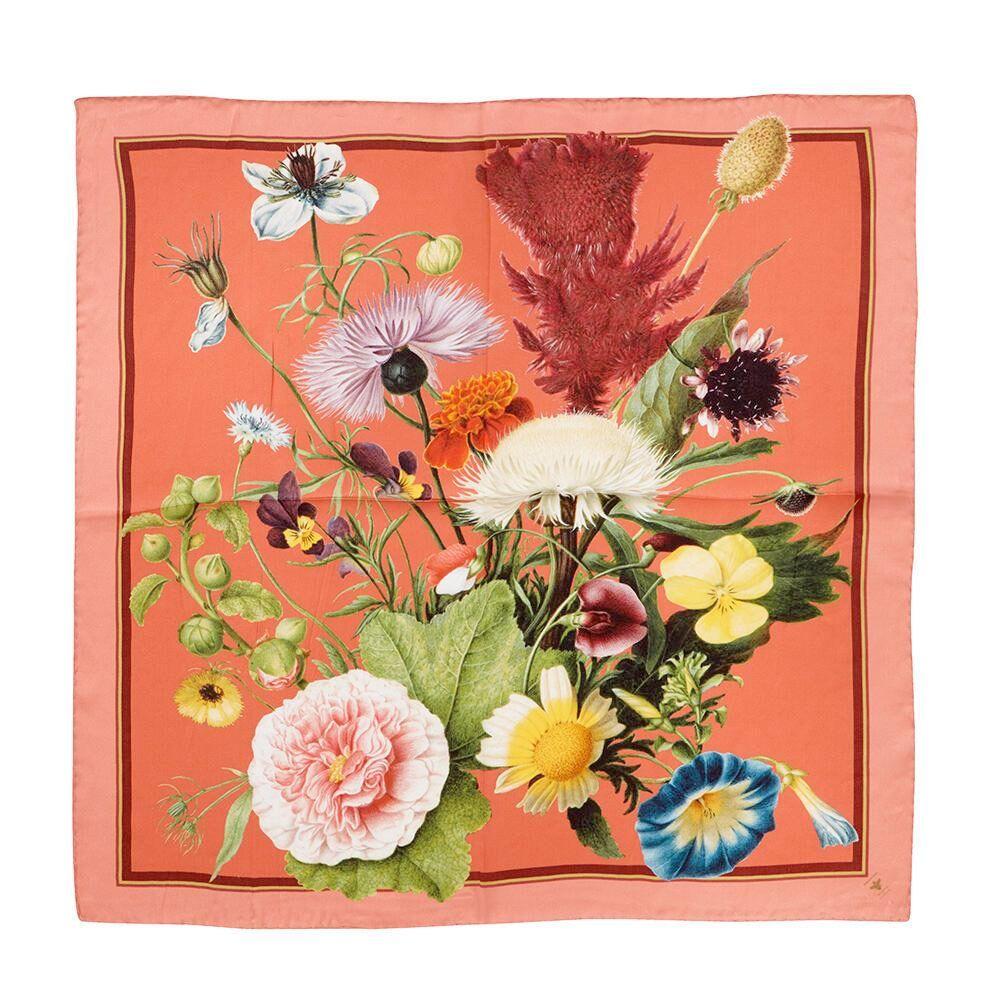Silketørklæde JL TREASURES Coral 50x50