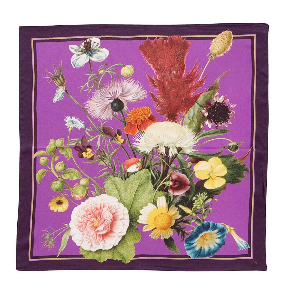 Silketørklæde JL TREASURES Purple 50x50