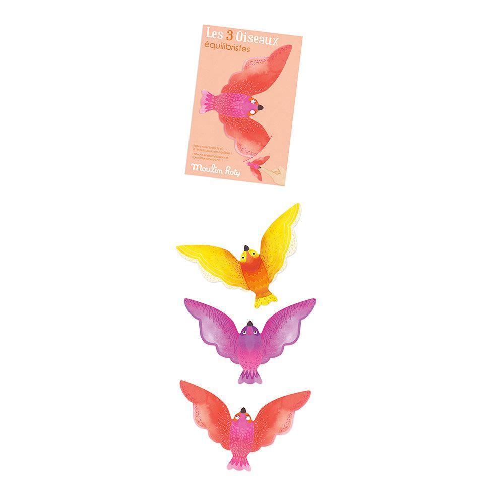 Magisk balancefugle 3 stk. i pap gyldne