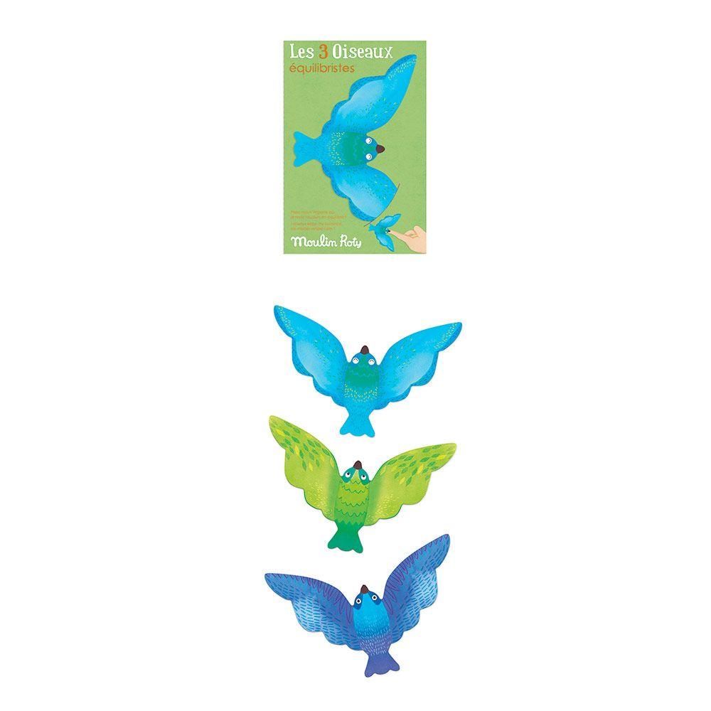Magisk balancefugle 3 stk. i pap blue