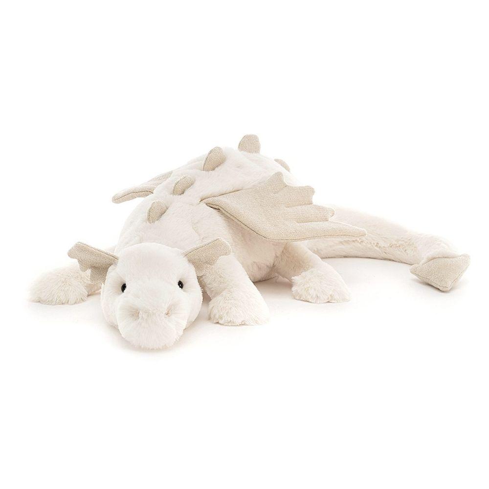 Jellycat Dragen Snow 70 cm