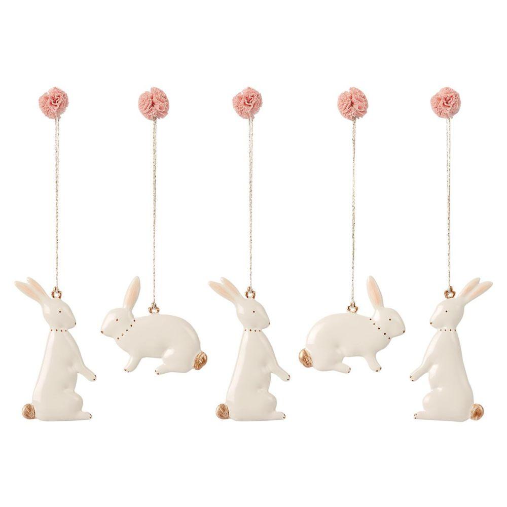 Maileg påskeophæng kaniner i æske 2021