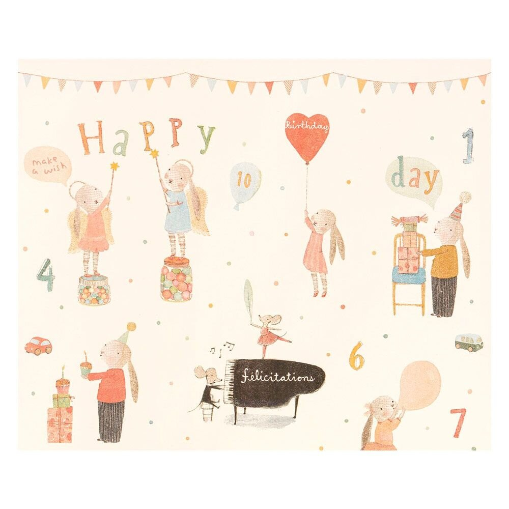 Giftwrap Maileg Happy Day, 10 meter
