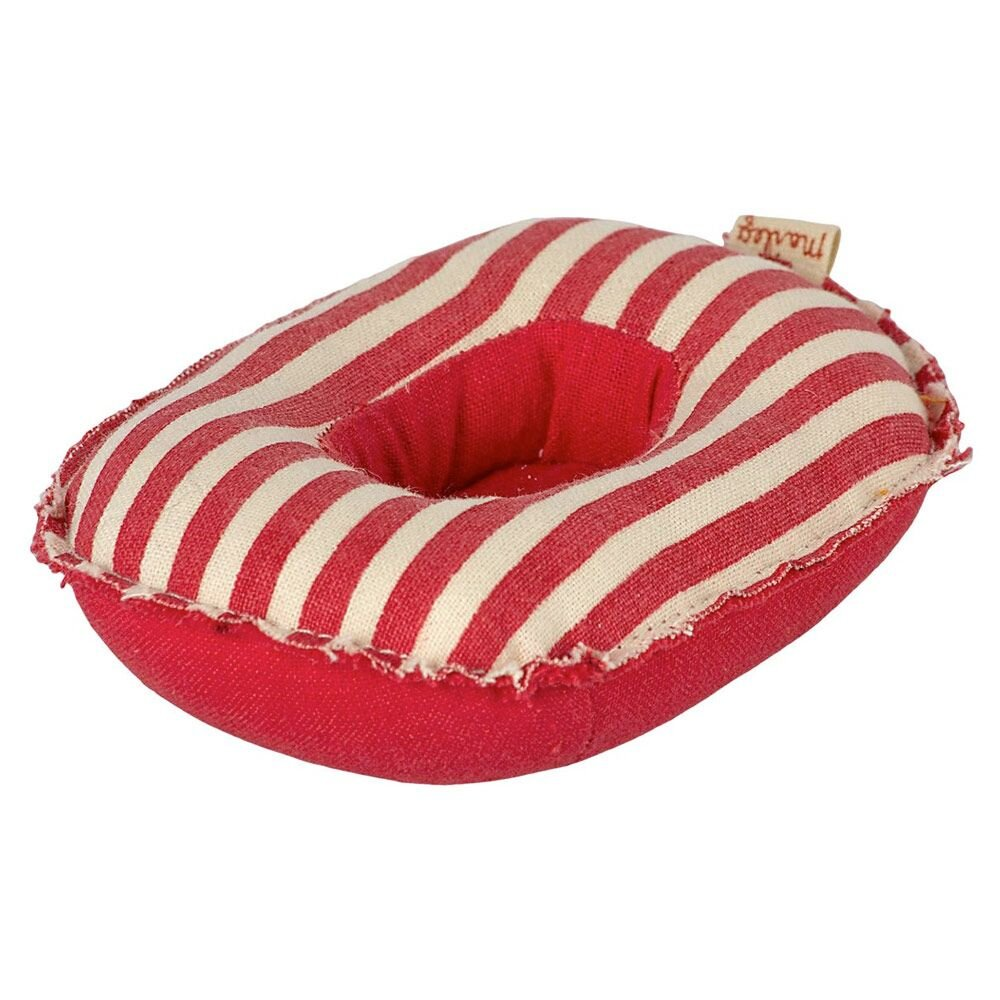 Maileg Miniature gummibåd rødstribet