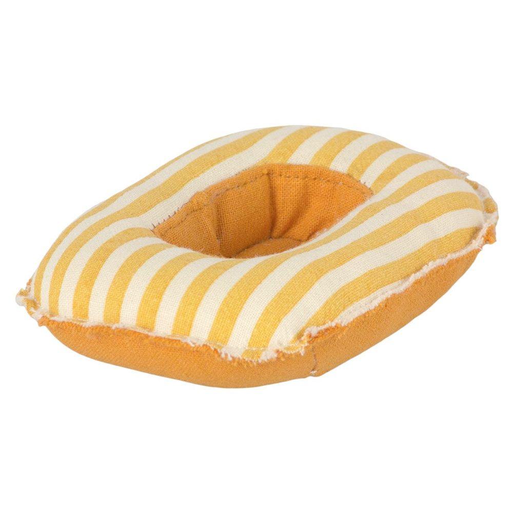 Maileg Miniature gummibåd gulstribet