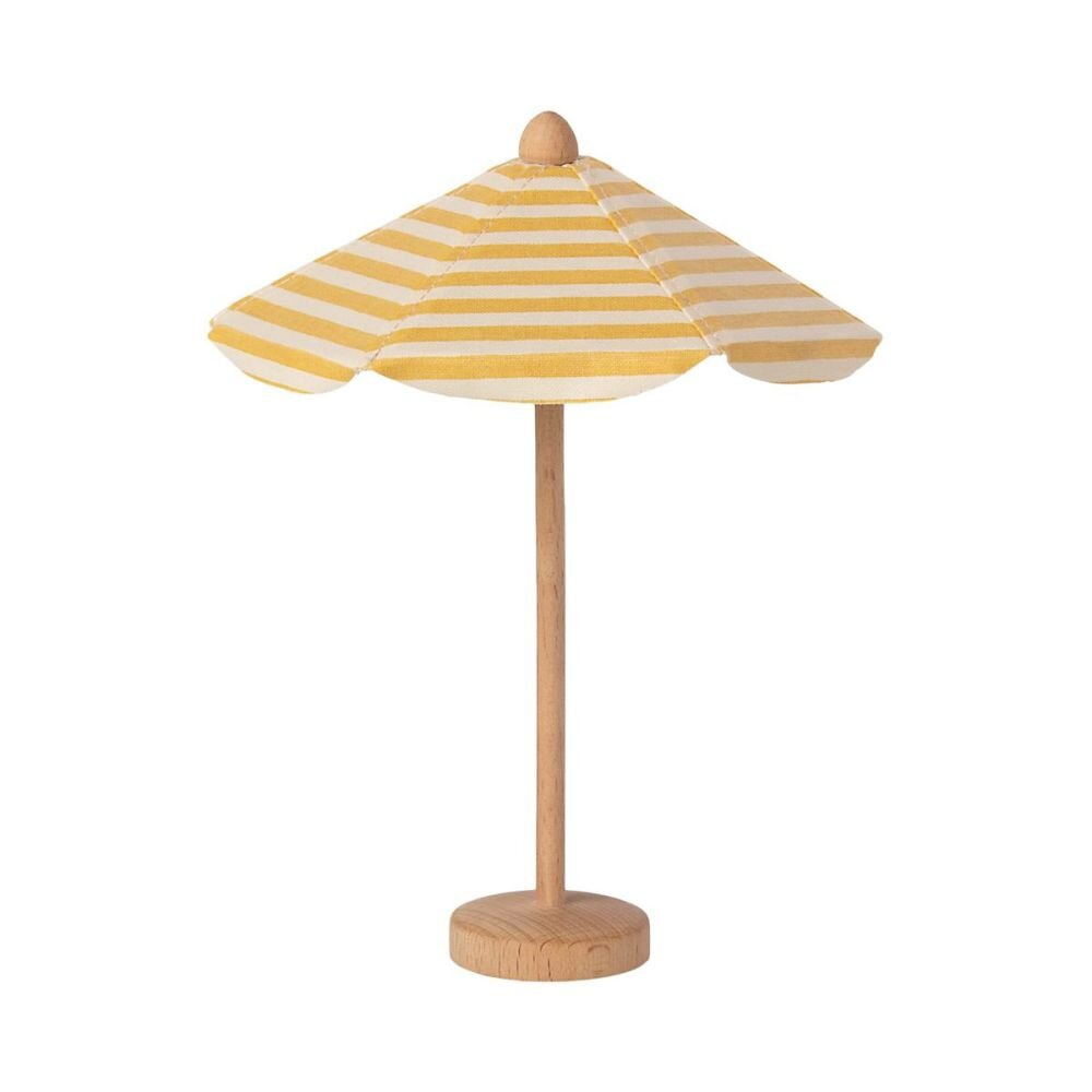 Maileg Miniature strand paraply gulstribet