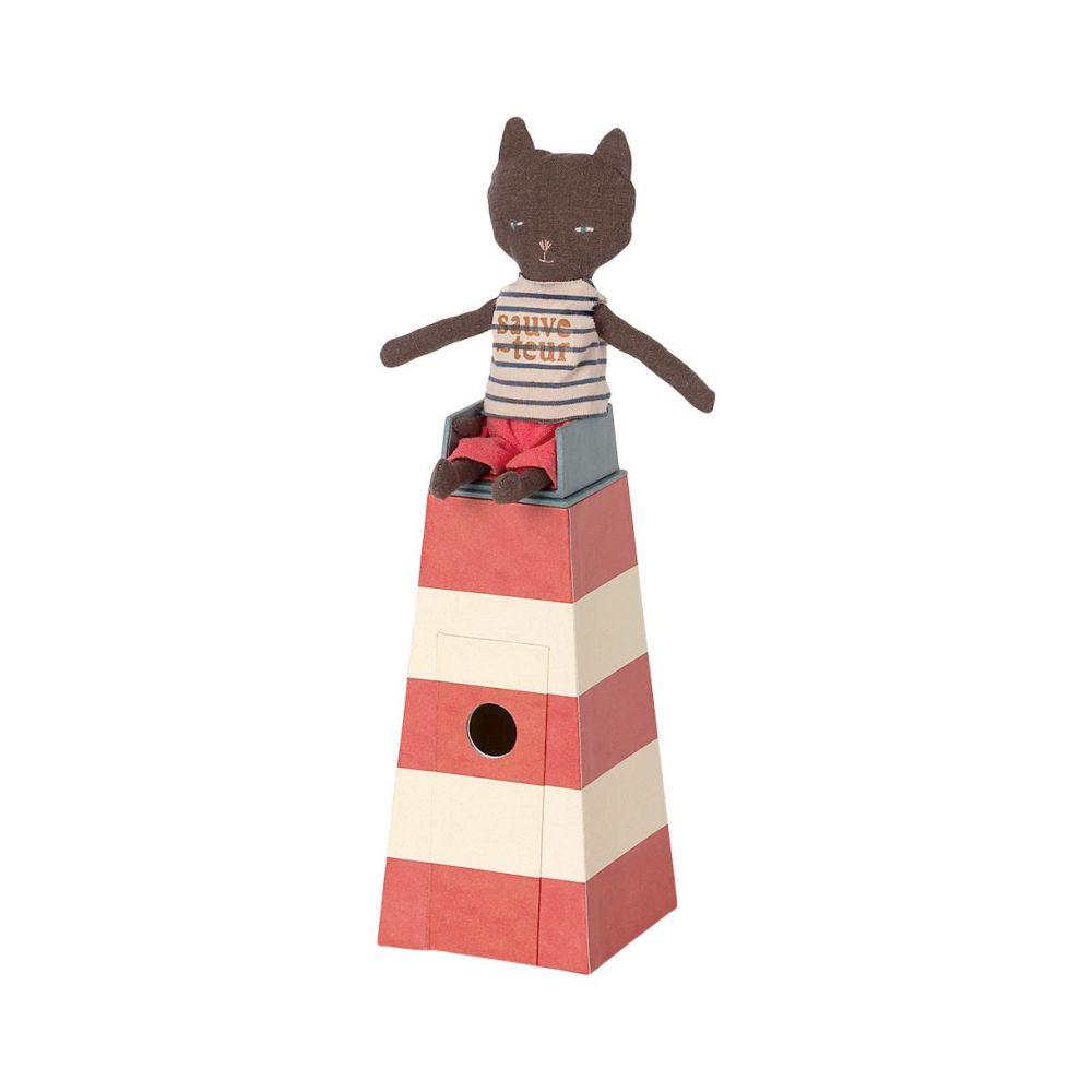 Maileg Kat livredder i udkigstårn