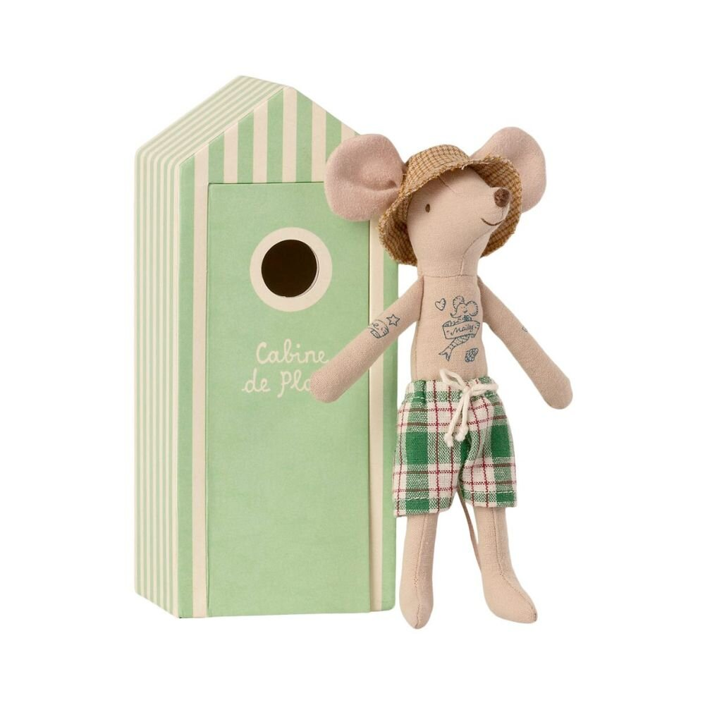 Maileg Micro Far mus i strandhytte